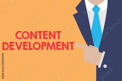 Fototapeta  Writing note showing Content Development