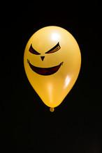 Halloween Balloon Concept, On Black Background