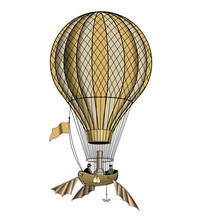 Vintage Hot Air Balloon Or Aer...