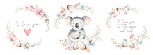 Watercolor Cute Cartoon Little...