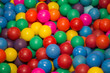 colorful balls on a blue background