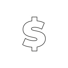 Dollar Sign Icon, Currency Sig...