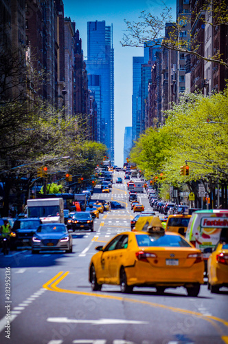 Wall Murals New York TAXI traffic in city