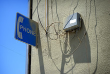Old Vintage Pay Telephone Sign...