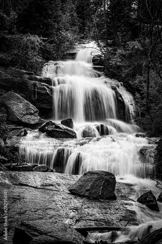 Waterfall Black and White