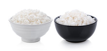 Cooked Rice In Ceramic Bowl On...