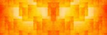 オレンジ色のバナー素...