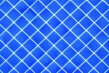 Blue Tile Pattern Texture Background