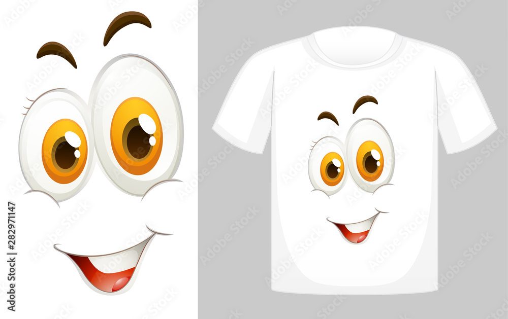 Fototapety, obrazy: T-shirt design with graphic in front