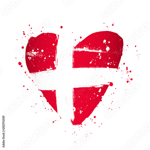 Wallpaper Mural Danish flag in the form of a big heart.