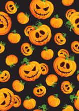 Halloween Pumpkin Seamless Pat...
