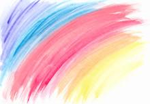 Watercolor Texture Rainbow Con...