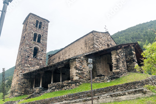 Sant Joan de Caselles church located in Canillo, Andorra. Wallpaper Mural