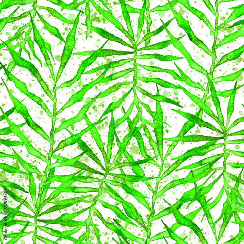Wall Murals Tropical Leaves Tropical seamless pattern. Watercolor thorny palm