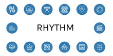 Set Of Rhythm Icons Such As Ma...