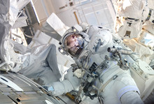 The Astronaut In A Space Suit,...