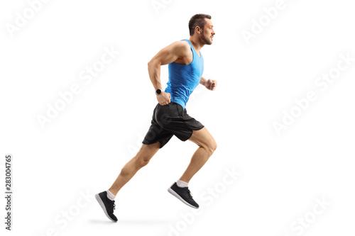 Fotografía  Young man in sportswear running