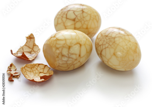 Photo  homemade tea eggs, Taiwanese food