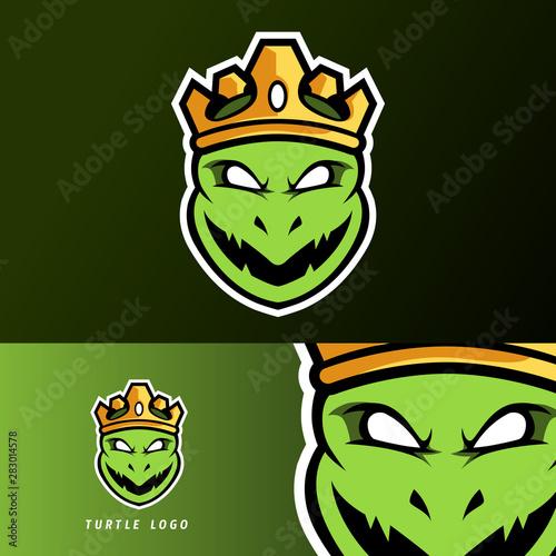 Fototapeta Angry king ninja turtle mascot, sport esport logo template