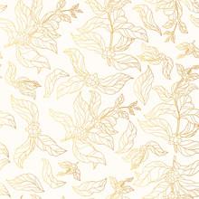 Seamless Pattern Of Golden Cof...