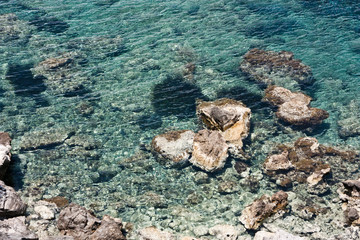 Kreta ocean rocks