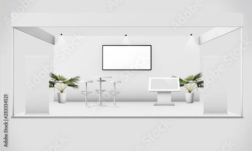 Fotografia, Obraz exhibition stand mock up