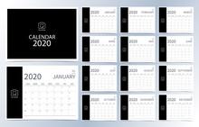 Business Calendar 2020.Dark Bl...