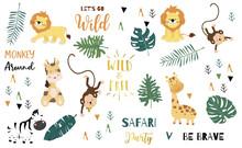 Safari Object Set With Monkey,...