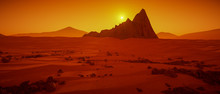A Great Day On Mars (3d Render...