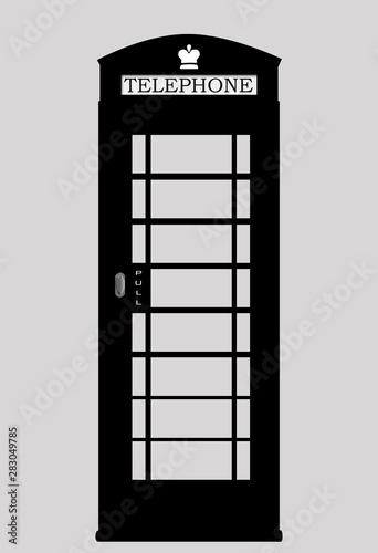 Photo Black telephone booth