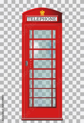 Obraz na plátně Traditional red London telephone box
