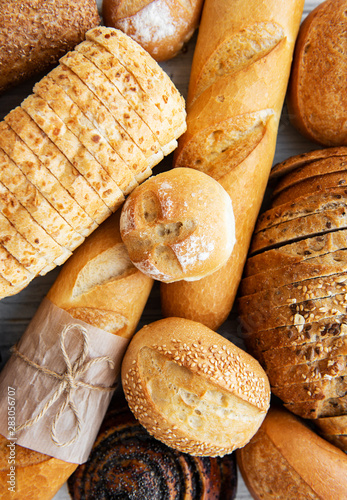 Poster Brood Assortment of baked bread