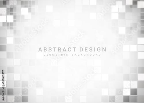 Fényképezés Abstract gray geometric background