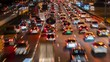 traffic jam at express way Rush hour in bangkok thailand