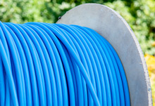 Cable Drum With Blue Network C...