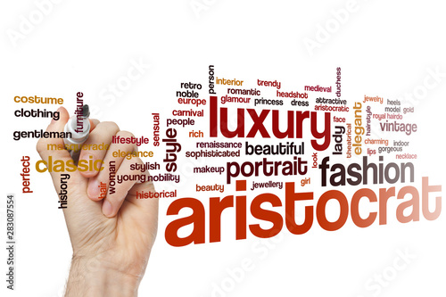 Aristocrat word cloud Wallpaper Mural