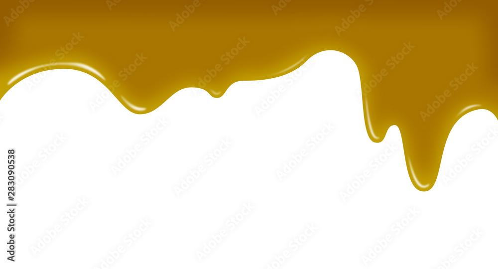 Fototapety, obrazy: 蜂蜜,メープルシロップ、ゴールド,溶ける、背景素材