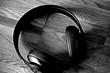 headphones kopfhörer black and white