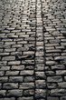 cobblestone on the pavement