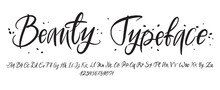 Hand Drawn Typeface. Painted V...