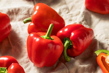 Raw Red Organic Bell Peppers