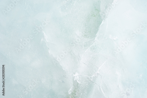 Soft Cool Ice Cracled Background / Texture Canvas Print