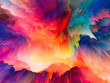 canvas print picture - Most Beautiful Colorful Explosion