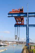 Crane In Preston Marina