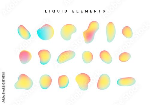 Gradient iridescent shapes Canvas Print