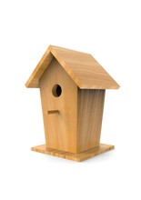 Wooden Bird Boxes Isolated On ...