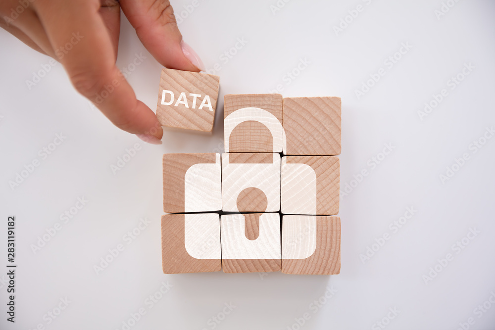 Fototapeta Person Holding Data Block