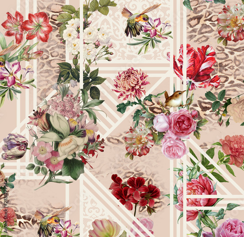 Tapety Barokowe  bukiet-roz-na-bialym-tle
