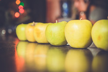 Row Of Apples At Party