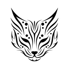 Tribal Animal Head Tattoos From Cats Or Lynx